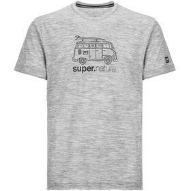 super.natural Graphic Tee 140 - T-shirt manches courtes Homme - gris